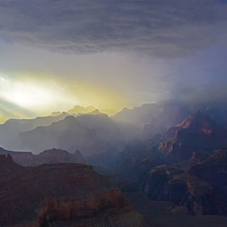 Grand Canyon,Arizona,monsoon season,rain storm,evening,south rim,Creation