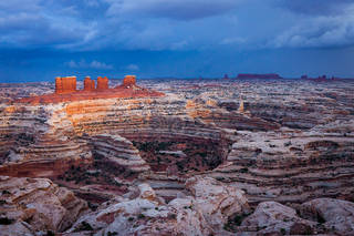 The Maze District, The Maze Overlook, Canyonlands National Park, Utah,evening,fall