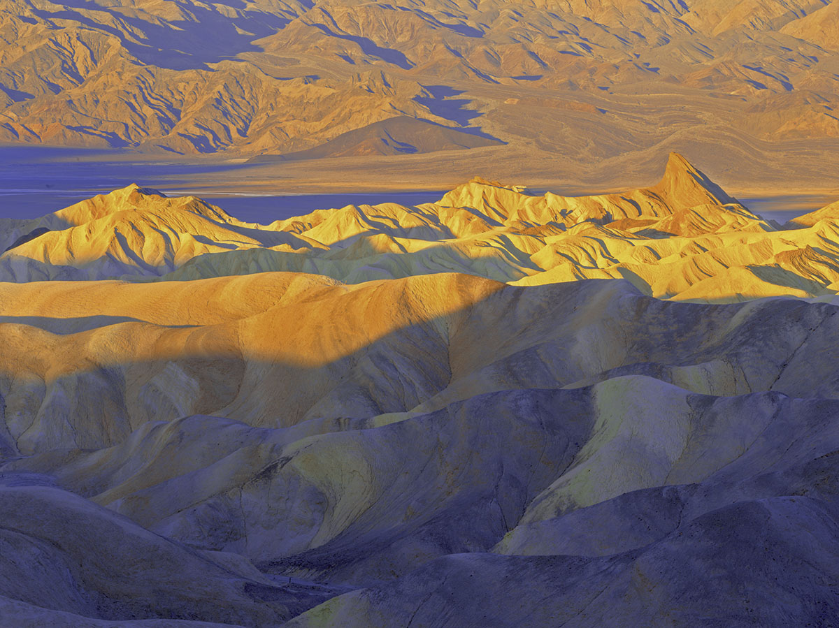 A reinterpretation of a commonly seen view in Death Valley.