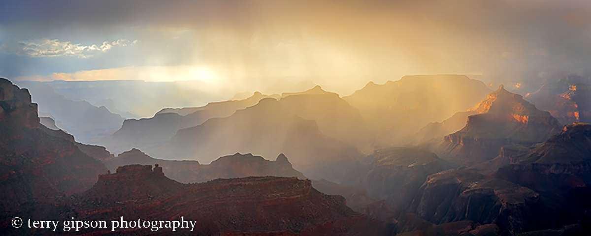 A Passing Storm over the Grand Canyon
