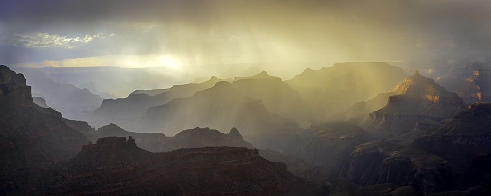evening storm over the Grand Canyon