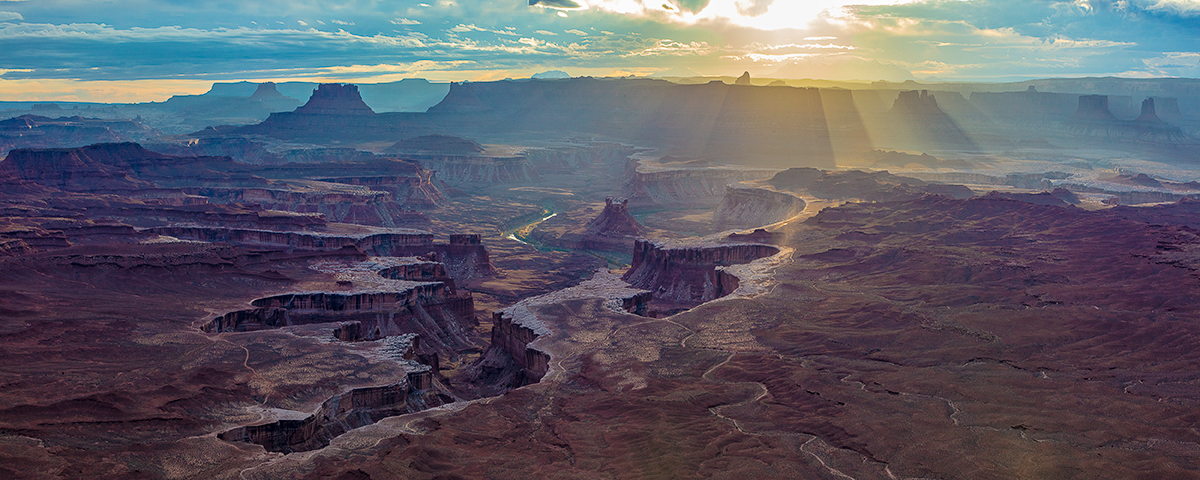 Green River Overlook evening, Green River Overlook, Canyoniands National Park, Utah, photo