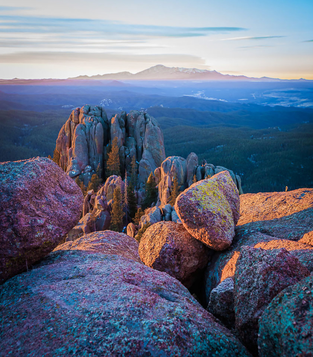 Pikes Peak,morning,Devils Thumb,Colorado,spring, photo