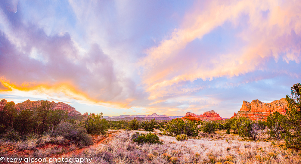 Sedona evening sunset