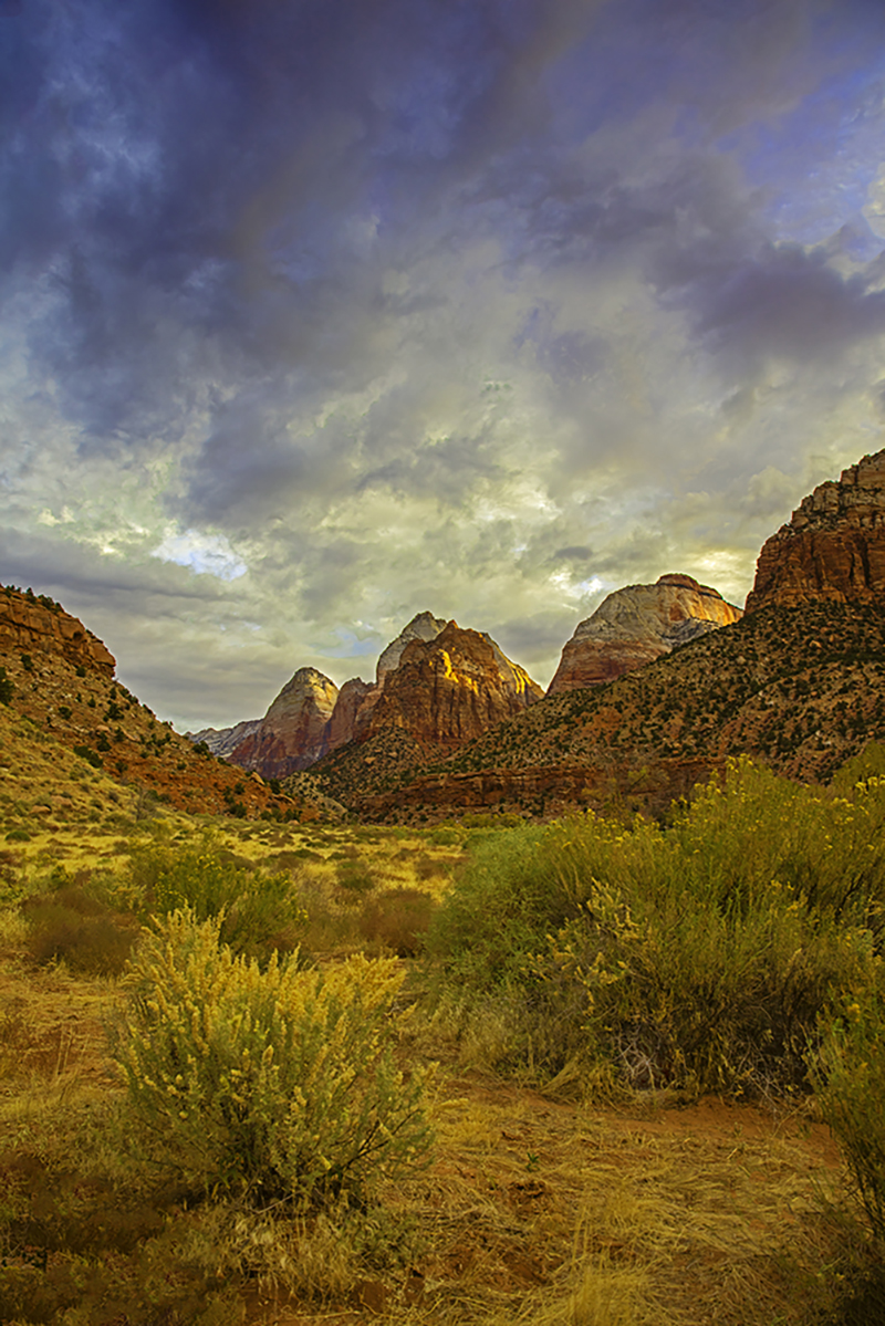Zion canyon morning
