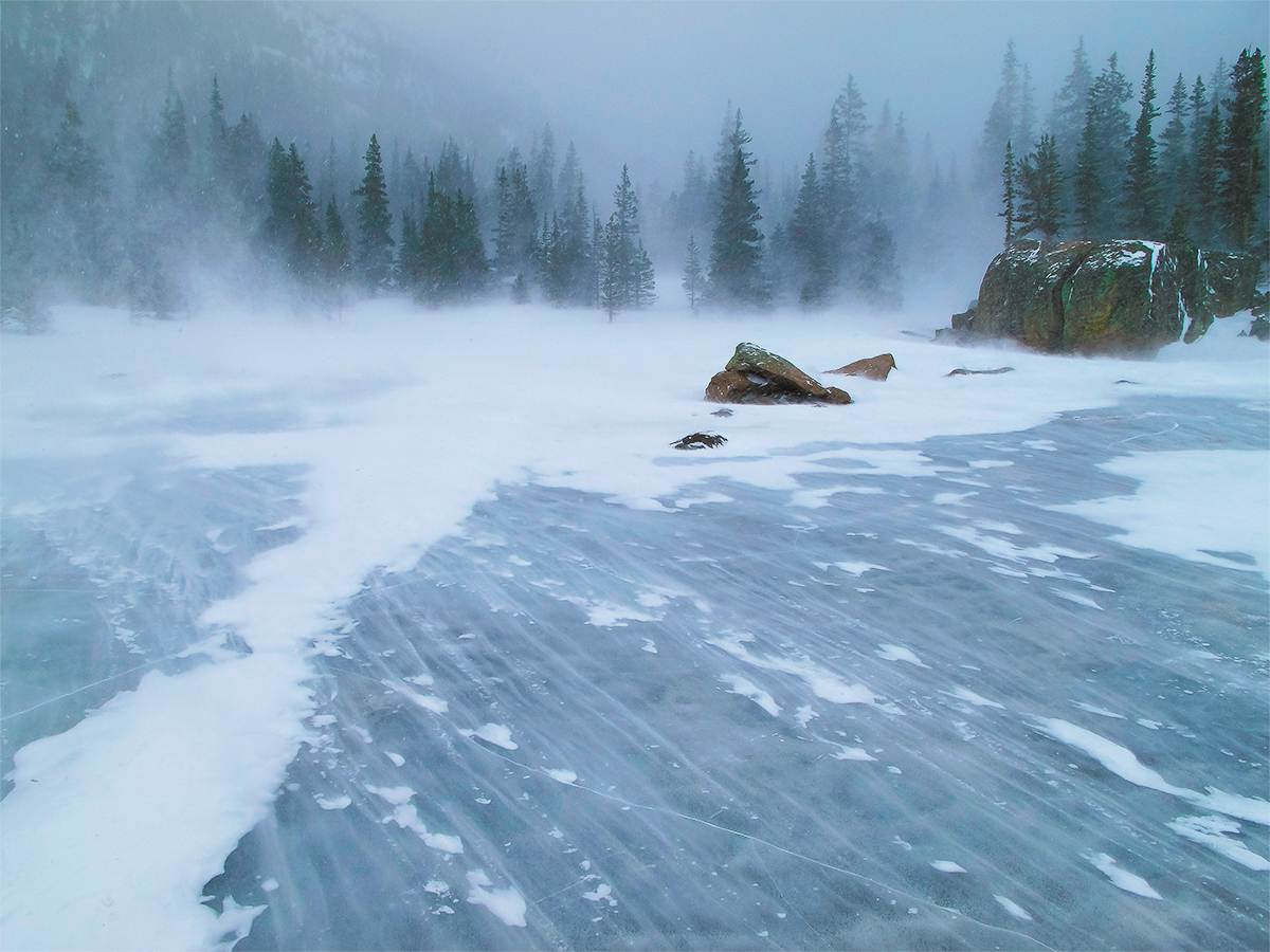 Ice and Snow,Rocky Mountain National Park, Colorado, photo